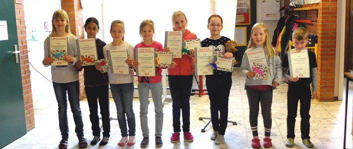 Lesewettbewerb an der Grundschule Großenmeer