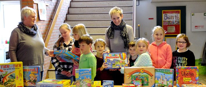 Tolle Spiele für die Klassen vom Förderverein der Grundschule Großenmeer